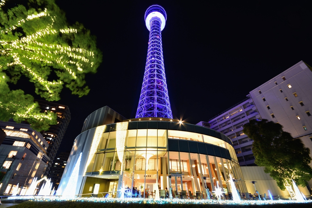 Yokohama Marine tower at night _258609629