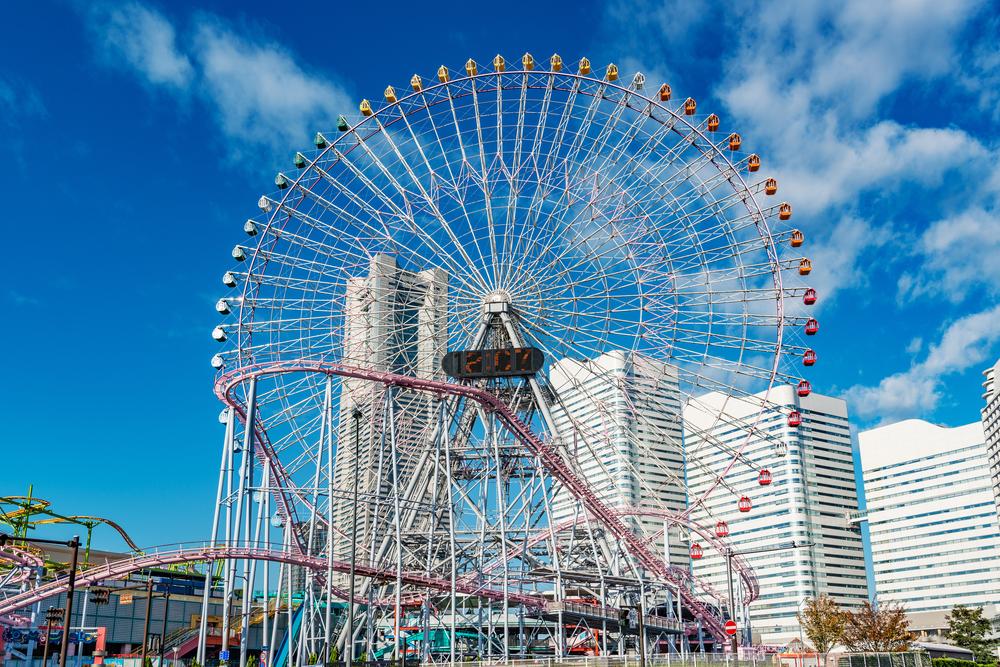 Ferris Wheel at Minato Mirai in Yokohama_335133794
