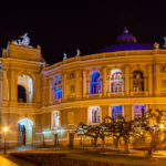 Odessa Opera and Ballet Theater at night_185477888