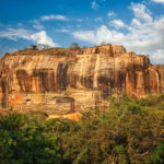 Sigiriya rock – famous Sri Lankan tourist landmark_384296230