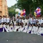 shooting for yearbook at Saigon Notre Dame Cathedral_343079300