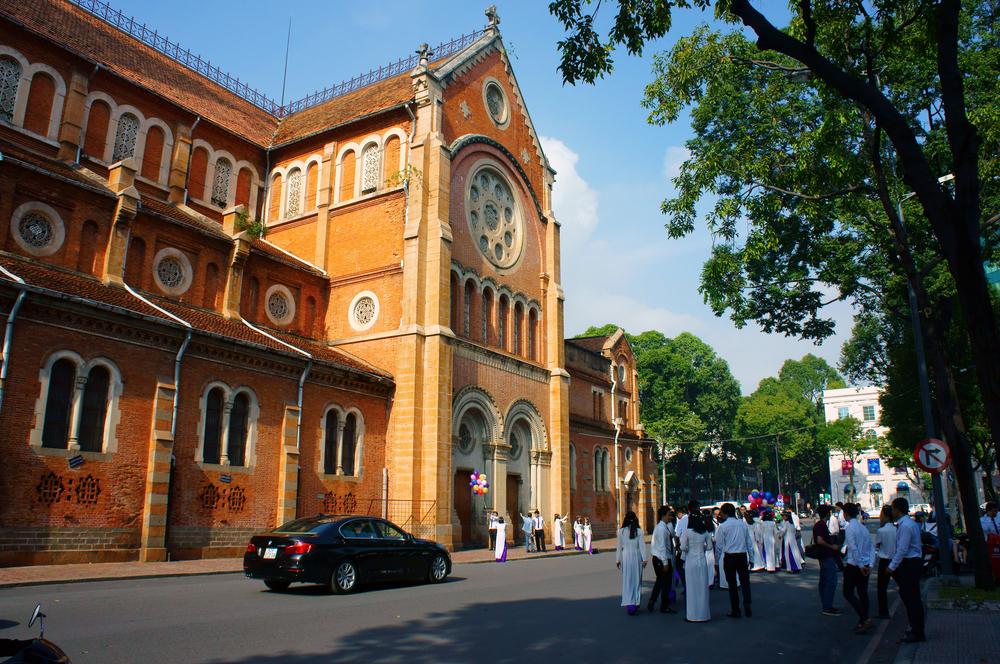 Saigon Notre Dame Cathedral, Vietnam_343079261