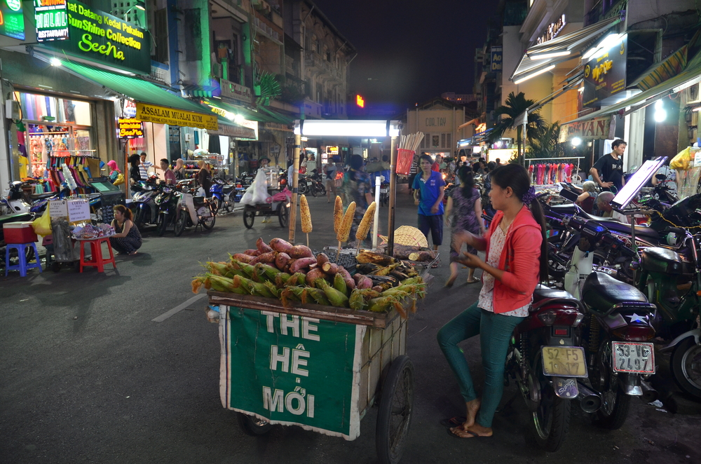 Ho Chi Minh City Night Vendor Street_161799446
