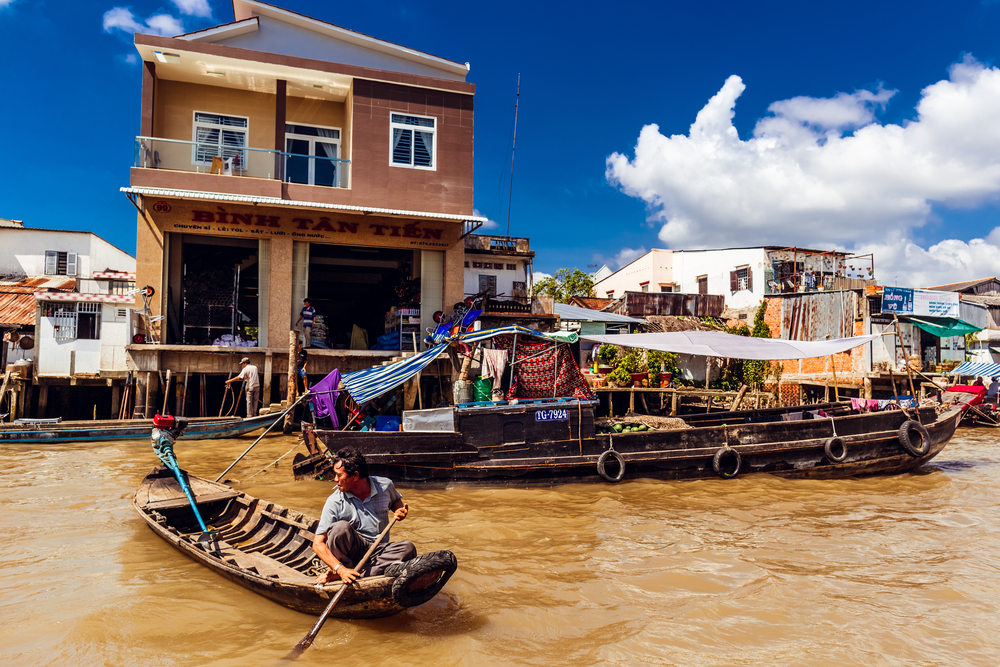 Mekong River in Hochiminh_370335662