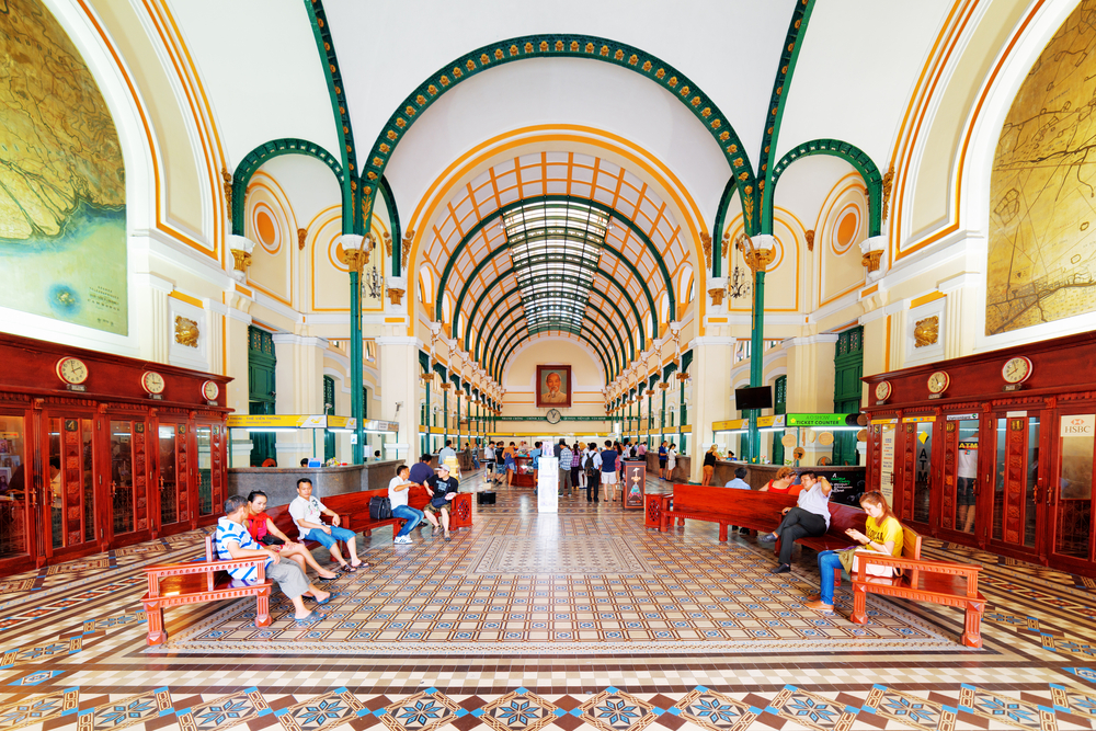 Interior of Saigon Central Post Office_300914390