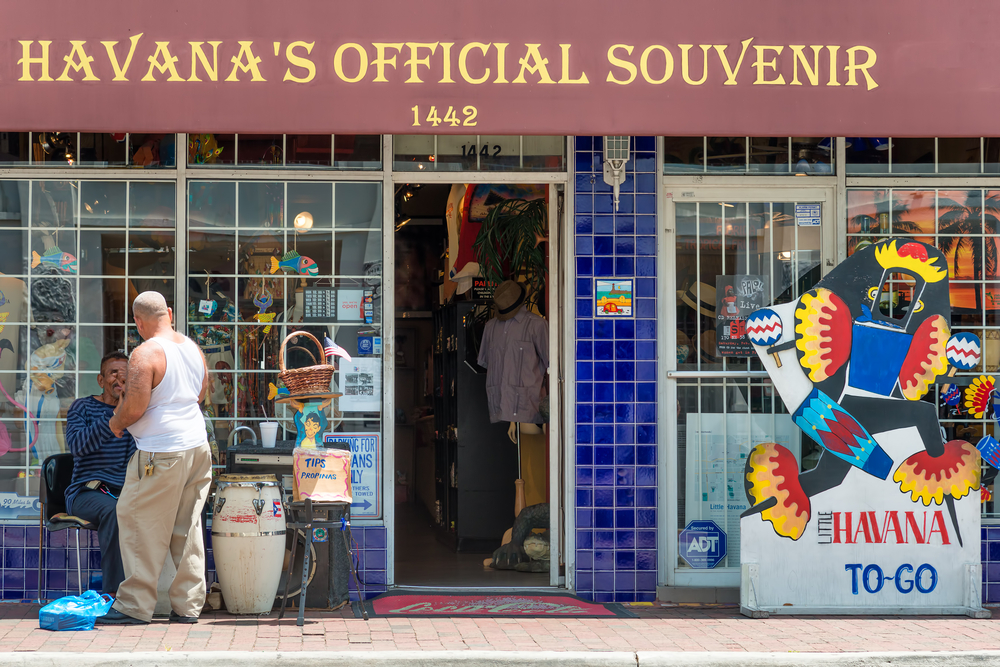 Typical cuban souvenirs shop in Little Havana_197663447