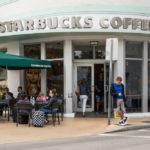Starbucks coffee store in South Beach_404436823