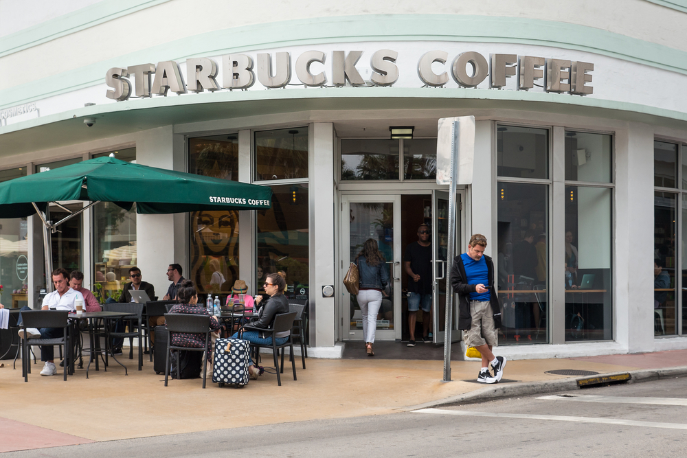 Starbucks coffee store in South Beach_404436823