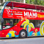 Open deck sightseeing bus at Miami Beach_168661523