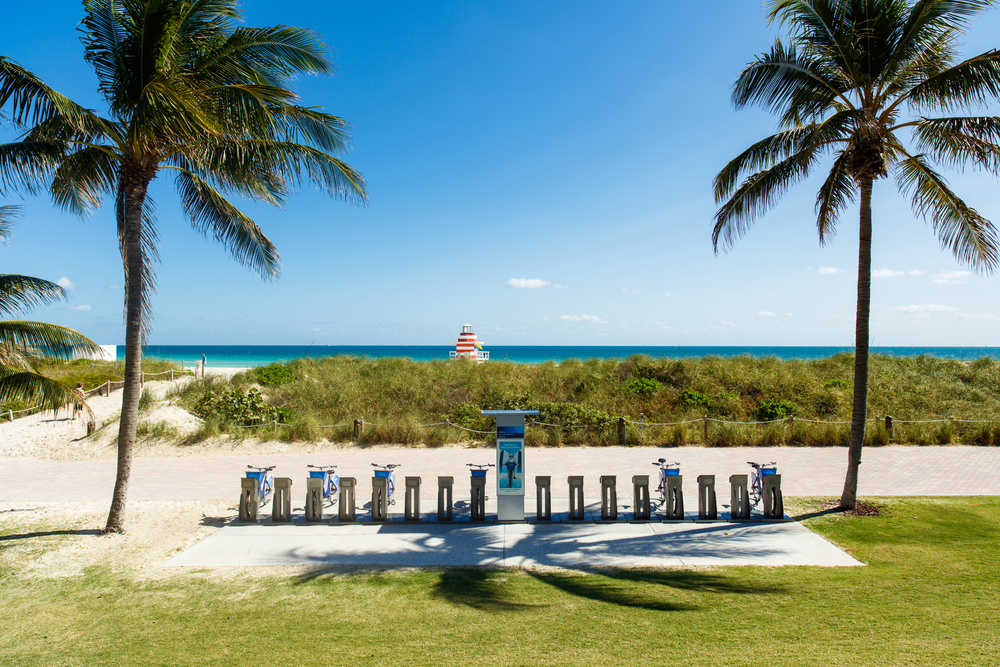 Miami Beach with Citibike rentals _383847154
