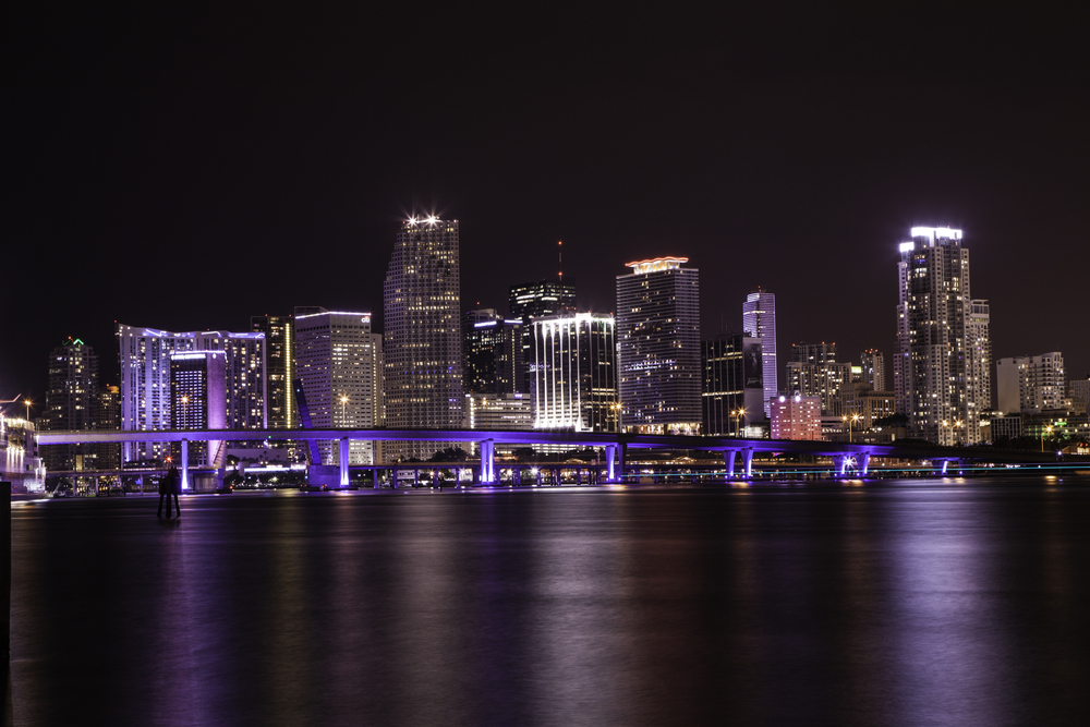 Downtown of Miami night skyline_385497868