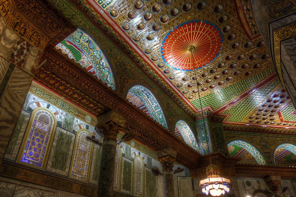 interior decoration inside Dome of Rock or Qubbatus Sakhra_433059415