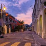 Dusk view of on Armenian Street and Yap Kongsi clan house_415922998