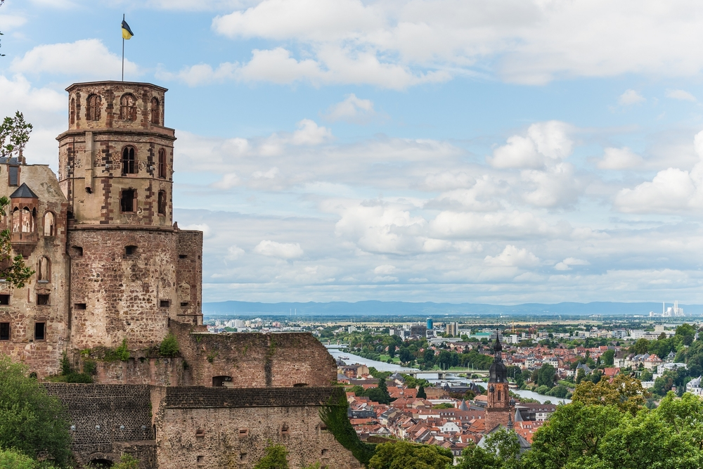 the castle of heidelberg and the lowlands behind_306896123