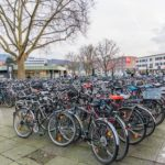 bikes at the train station heidelberg_382329739