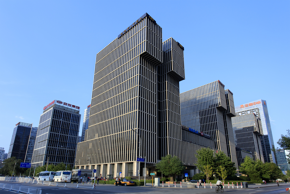 Beijing Wanda Plaza and modern buildings_403090807