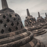 Heritage Buddist temple Borobudur complex in Yogjakarta in Java_375357814