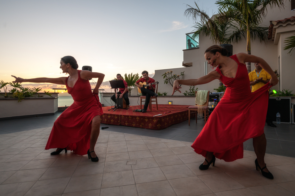 Flamenco dance at sunset _244053787