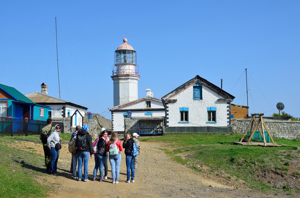 Gamova peninsula, Russia lighthouse_441922135