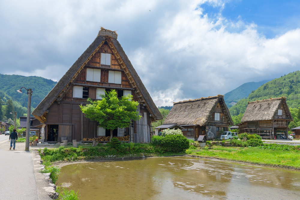 View of Shirakawago (Shirakawa Village) world heritage village _441704113