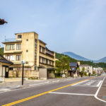 Nikko Kaido road in Nikko town_437743348