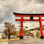 Giant Torii gate near lake Chuzenji in Nikko_439931176