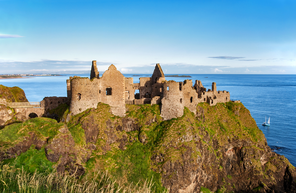 Ruins of Dunluce castle in County Antrim_394911307