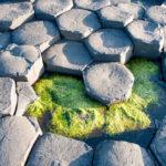geological hexagonal formations of volcanic basalt rocks_406367617