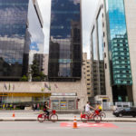 Cyclists on Paulista Avenue_158145551