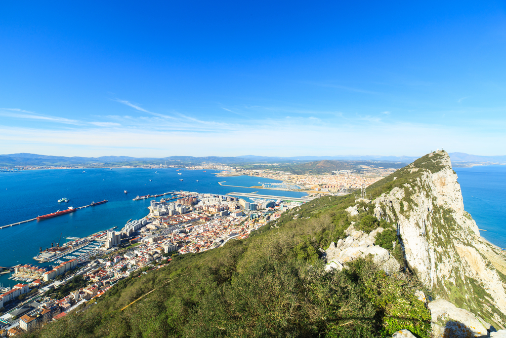 panorama of Gibraltar city_242278489