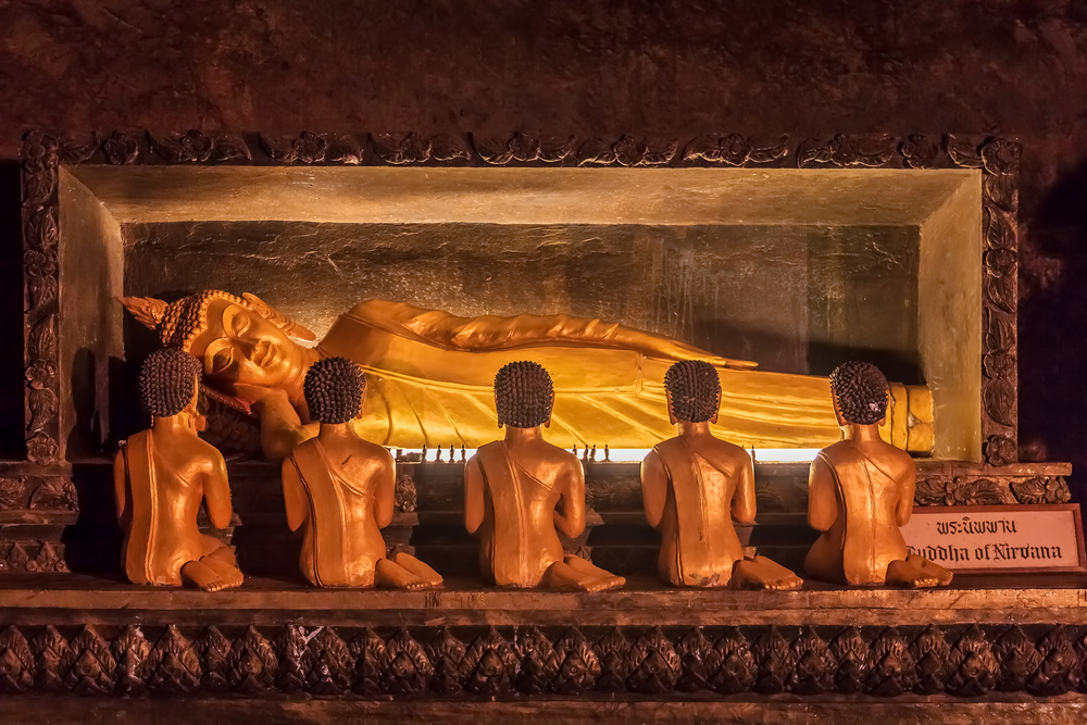 Golden statue of Buddha of Nirvana _274133204