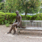 Statue of Charles Darwin at Christ College_304796612
