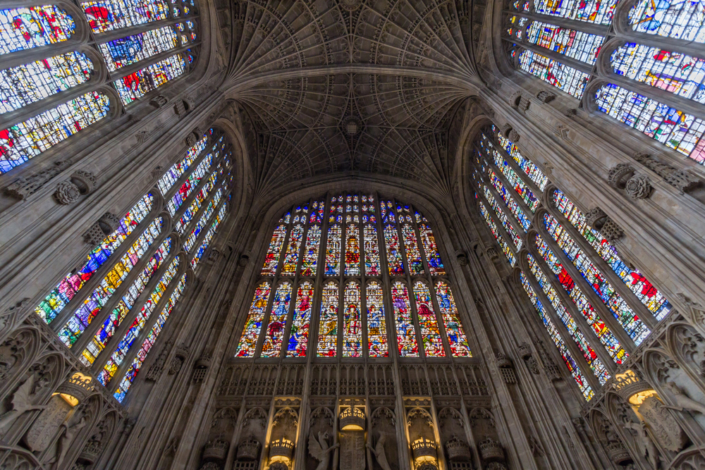 Interior of Kings college chapel in the University of Cambridge_304963628