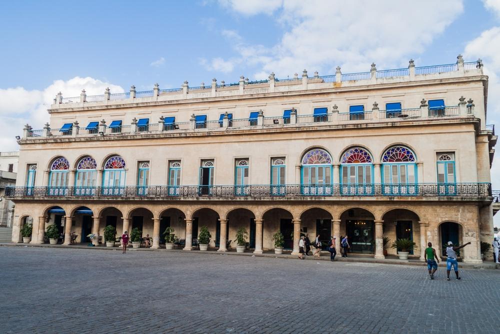 Palacio de los Capitanes Generales on Plaza de Armas square_444581086