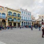 colonial buildings on Plaza Vieja square in Havana Vieja_445236661
