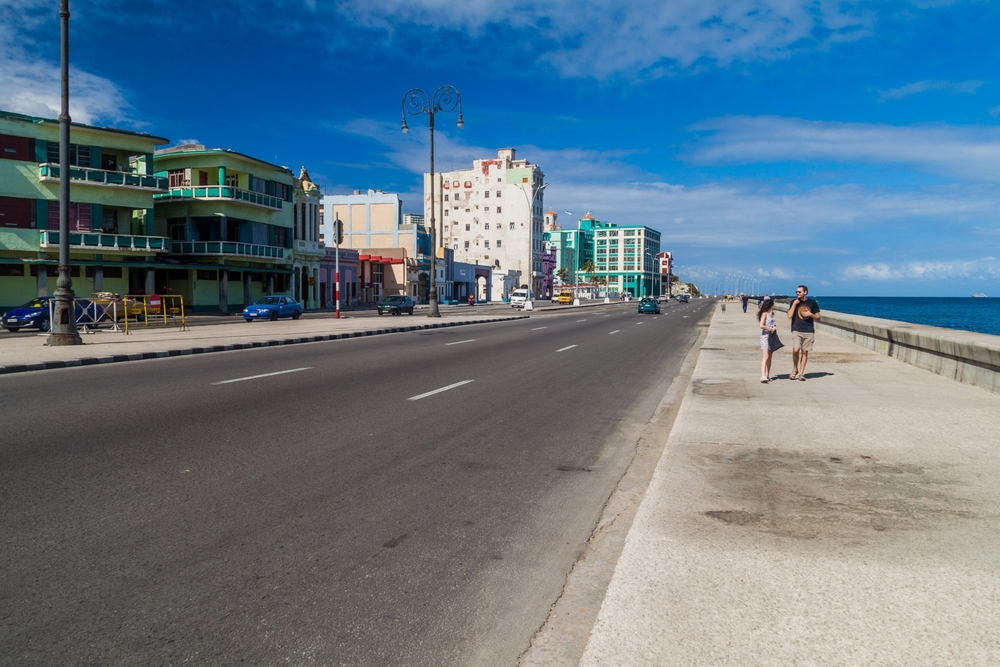 Famous seaside drive Malecon in Havana_445192267