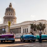 Parque Central in Havana in front of the National Capitol_440149129