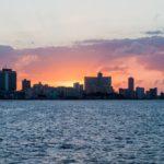 Sunset behind the skyline of Havana_445236649