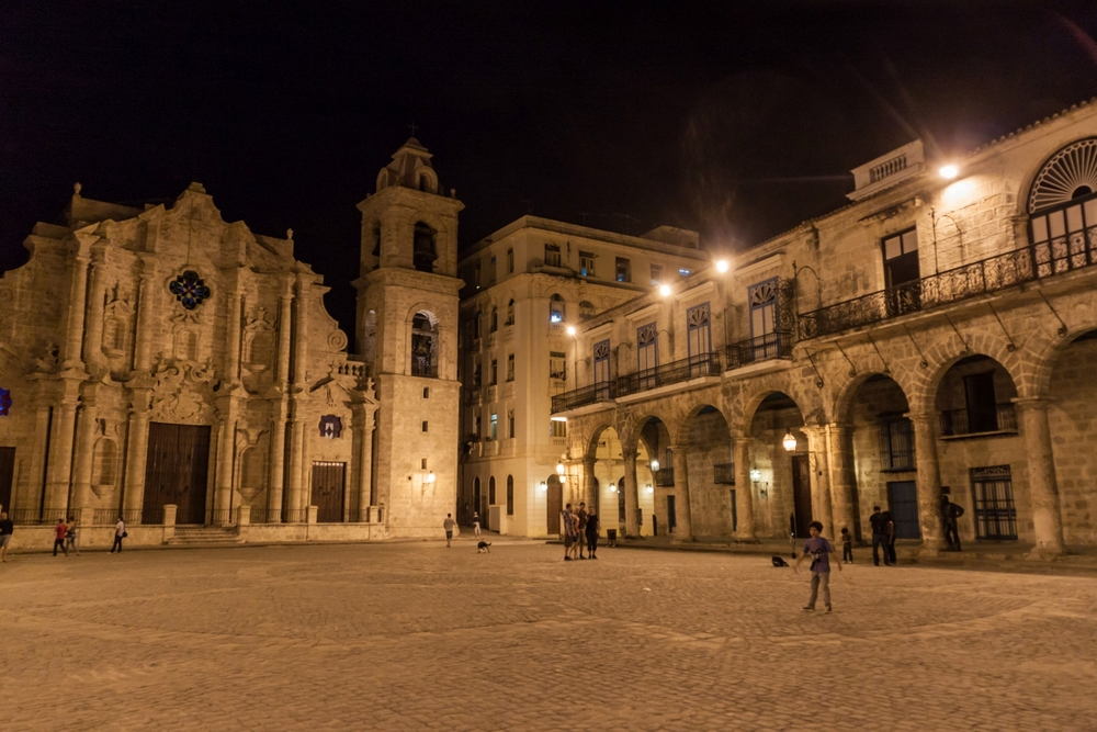 Plaza de la Catedral square in Habana Vieja_445236655