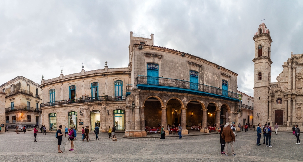 Plaza de la Catedral square in Habana Vieja_445192240