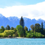 Mountain and lake in Queenstown_239697481