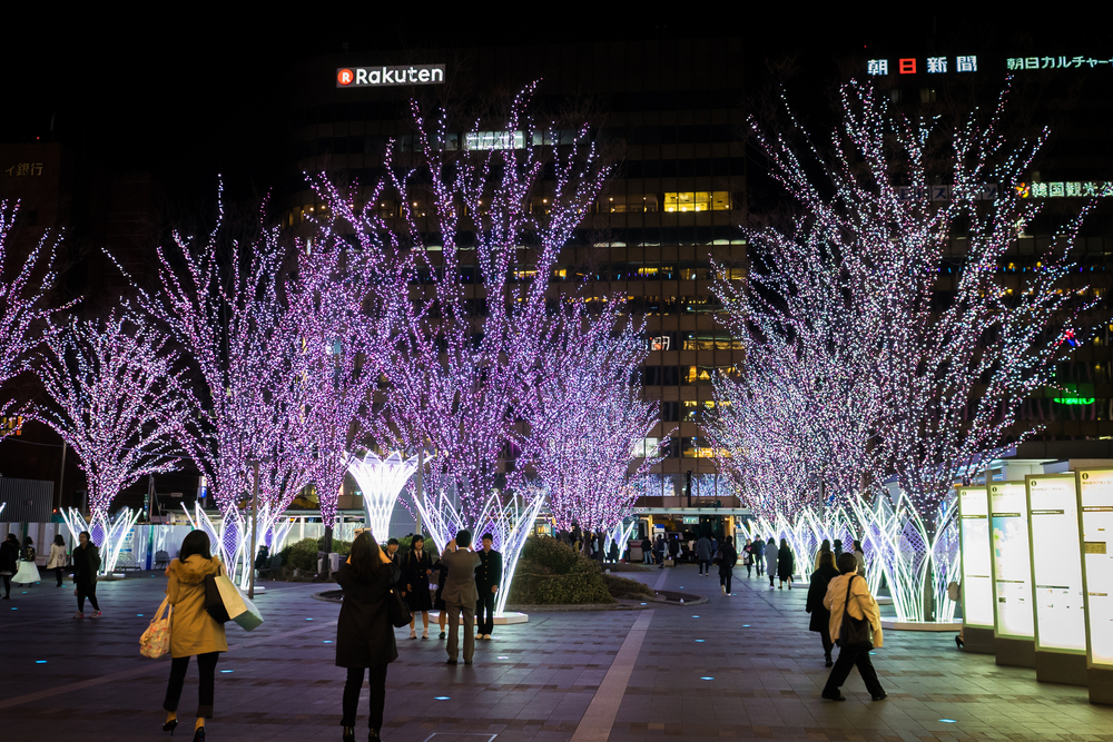 holidays light decoration in Hakata Station_418847728