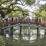 Red bridge of Dazaifu Shrine_416043946