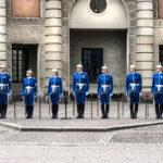 Change of gard (Livgarde) in blue uniforms_397274803