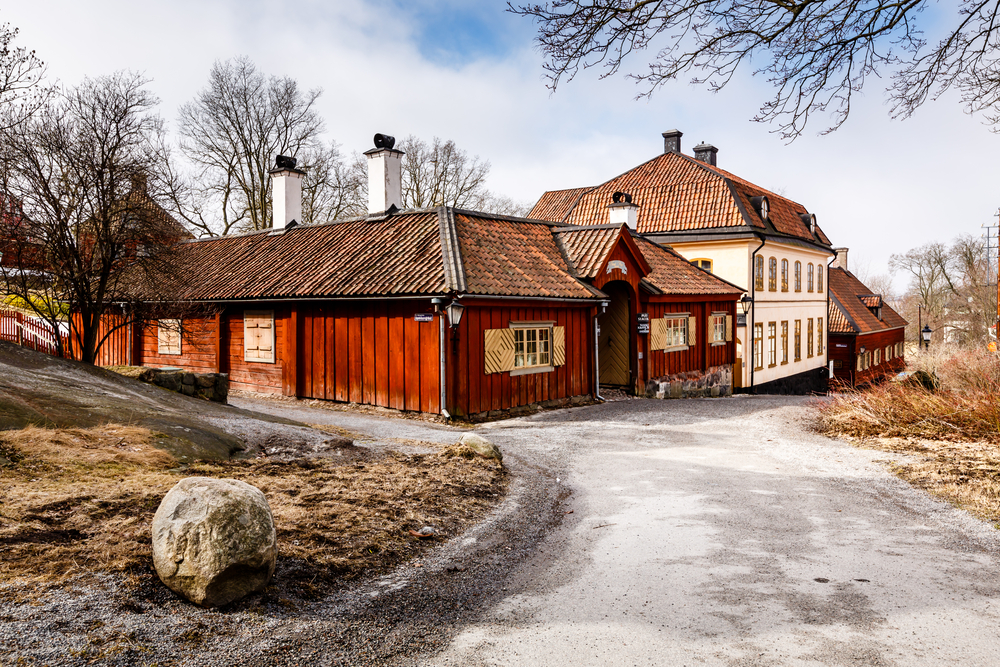 Traditional Swedish Houses in Skansen National Park_138498137