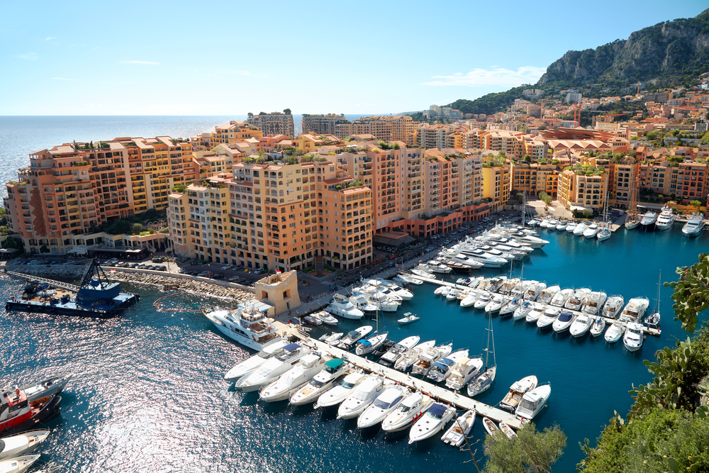 luxury yachts in harbor of Monaco_70158046