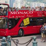 red Monaco city tour bus in Monaco_289485875
