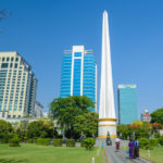 Independence Monument in Mahabandoola park in downtown Yangon_427500064