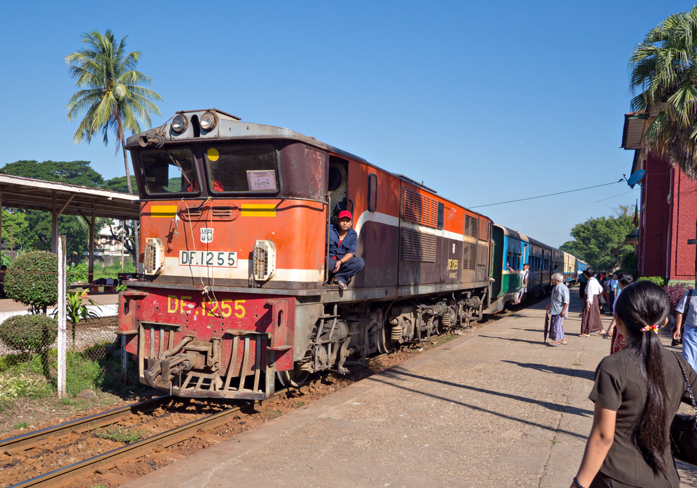 Pan Hlaing Railway Station in Yangon_240614575