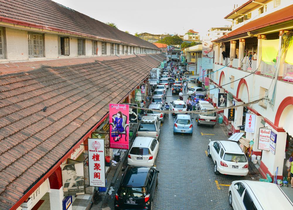 Sule Boulevard with famous Bogyoke Market _311447342